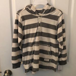 NWT Boys hooded pullover. Size 7